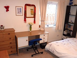 Double Room desk and window
